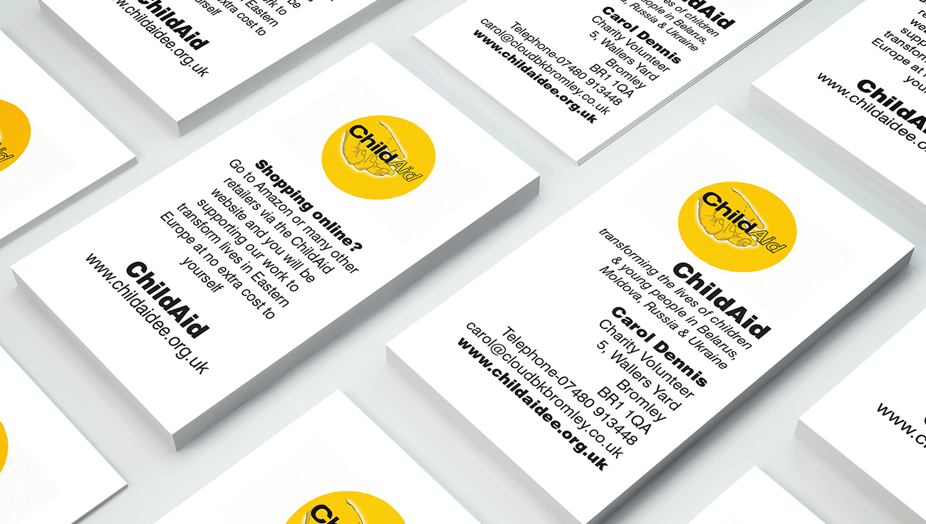 ChildAid business card design by CS Creative Studio