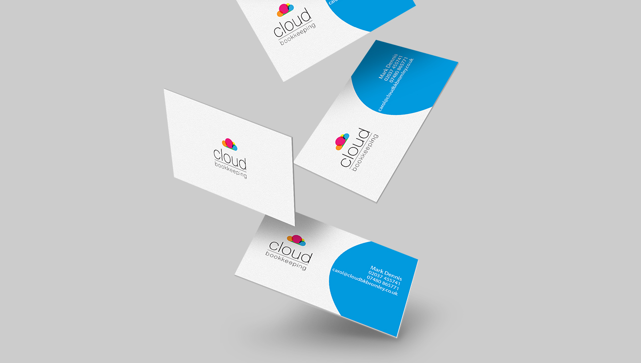 Cloud Bookkeeping business card design by CS Creative Studio