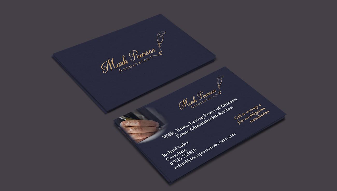 Mark Pearson Associates business card design by CS Creative Studio
