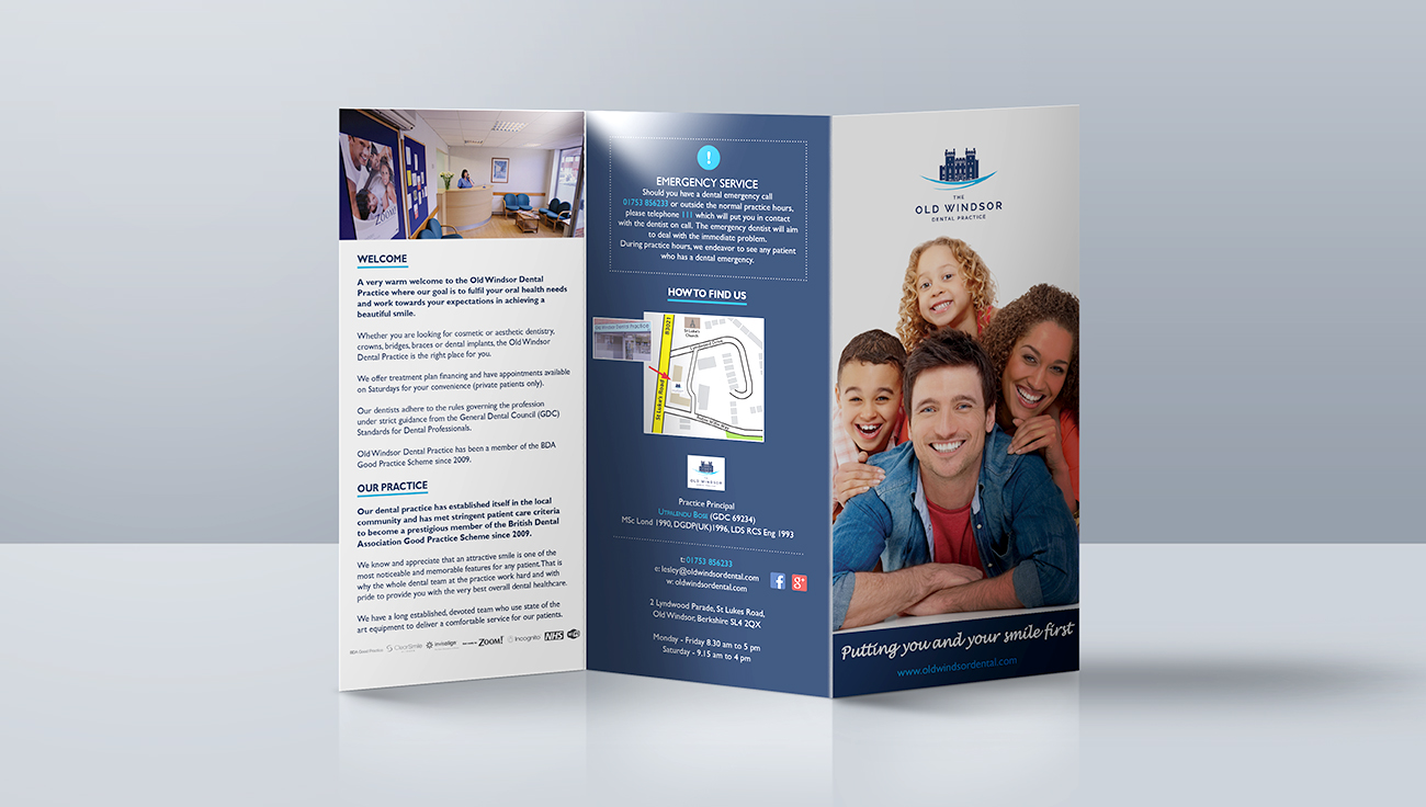 Old Windsor tri-fold booklet design by CS Creative Studio