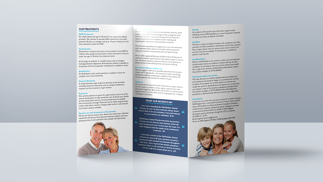 Old Windsor tri-fold booklet design by CS Creative Studio
