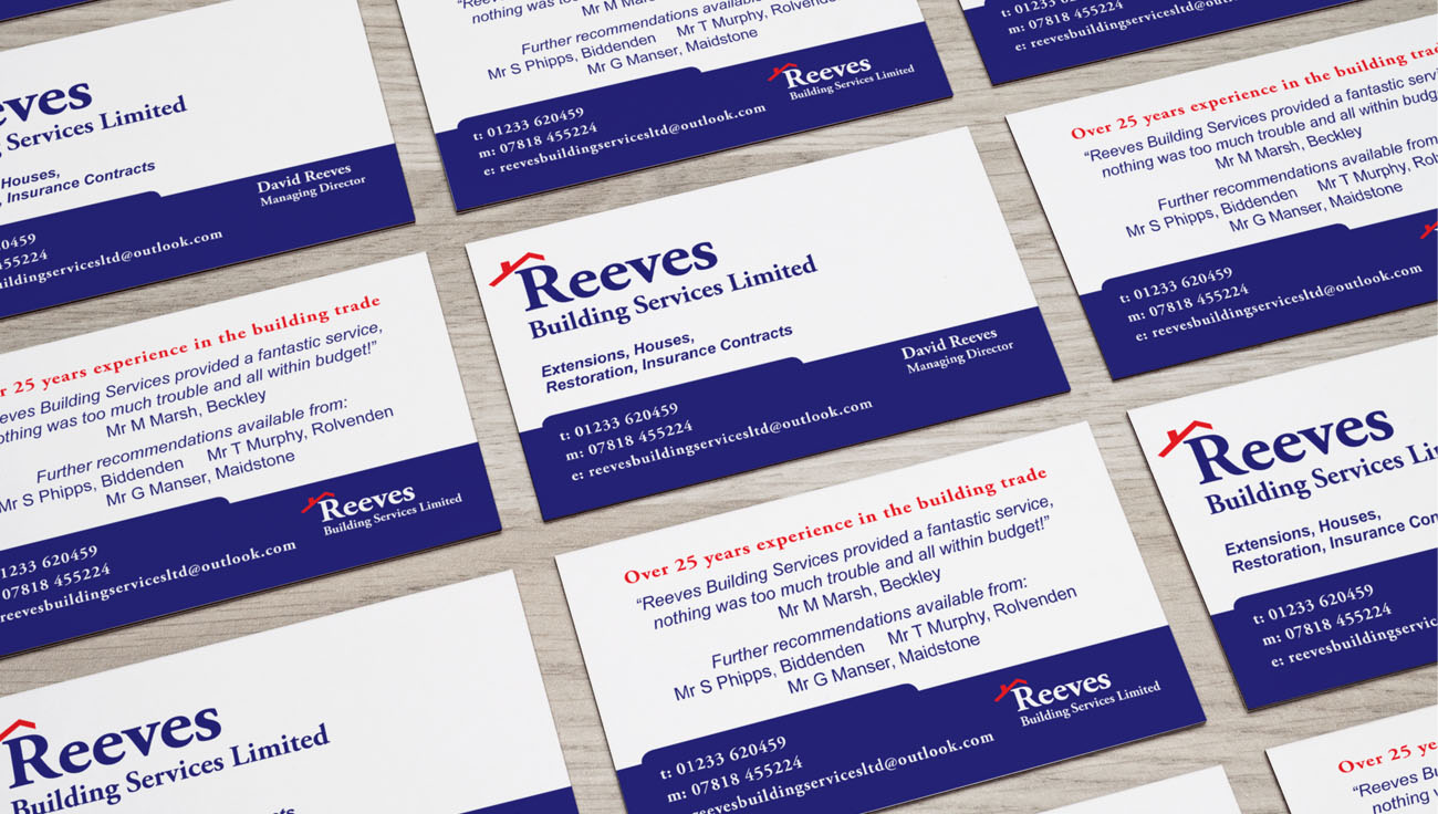 Reeves Building Services business card design by CS Creative Studio