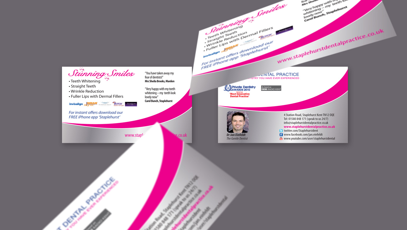 Staplehurst Dental Practice business card design by CS Creative Studio