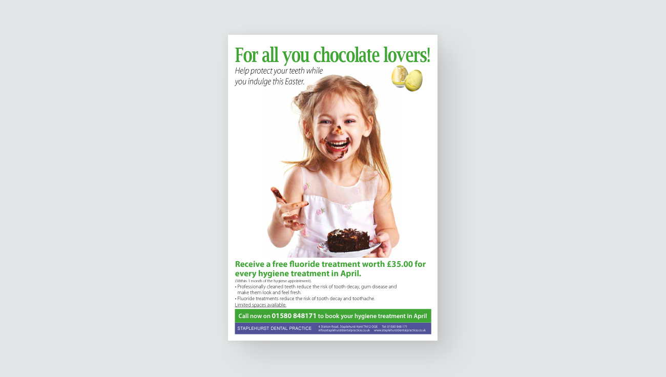 Staplehurst Dental Practice Easter promotion design by CS Creative Studio