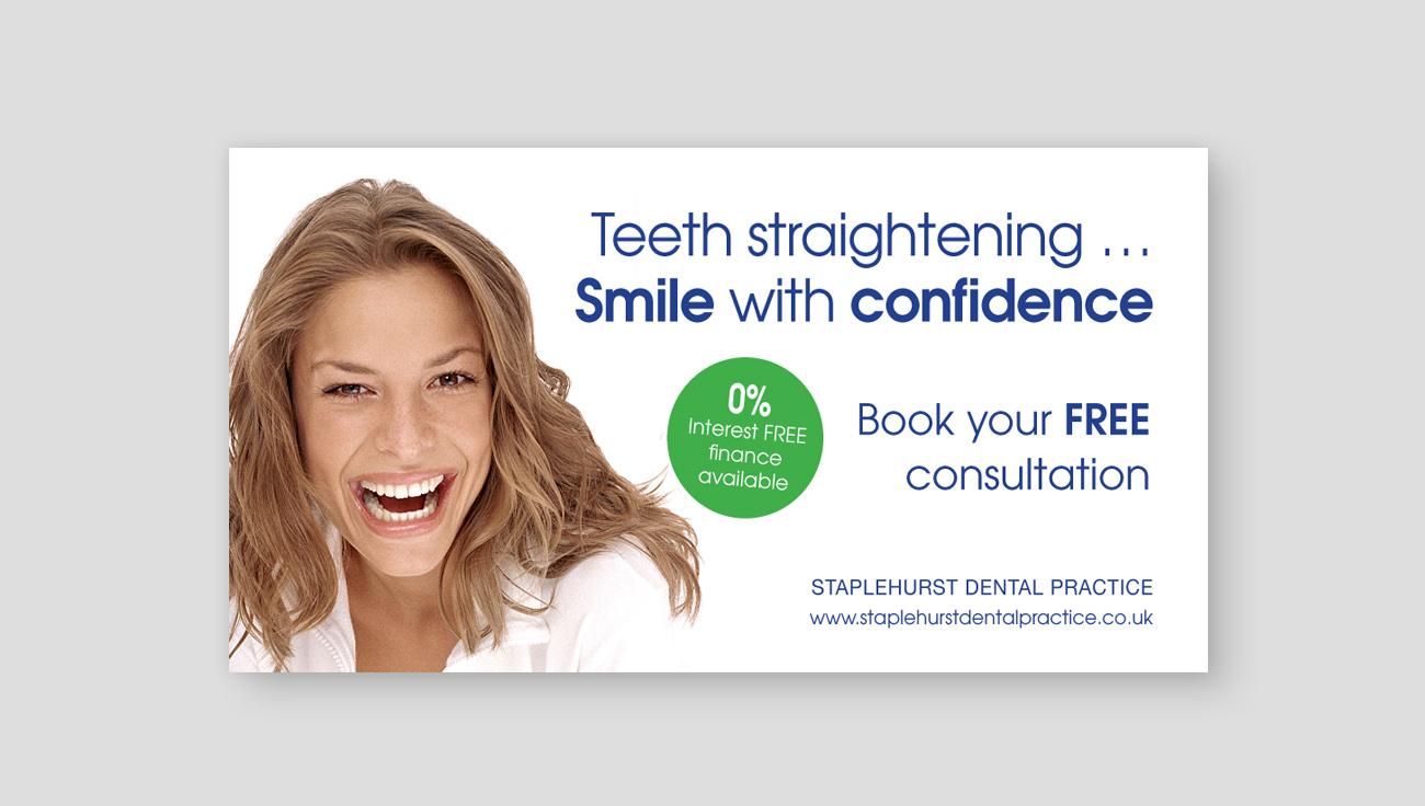 Staplehurst Dental Practice teeth straightening advert