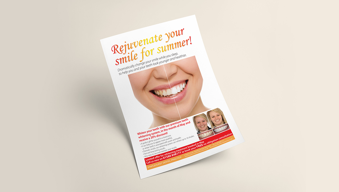 Staplehurst Dental Practice Summer promotion design by CS Creative Studio